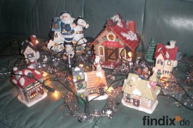 Weihnachtstadt mit Beleuchtung