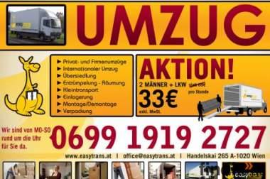 Wien Umzug! Firmen und Privatumzug ab 25 €/h