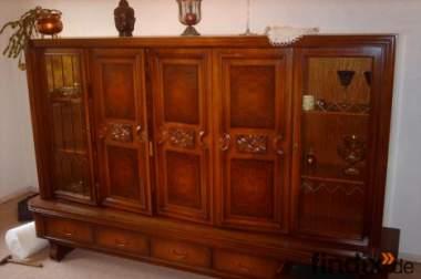 Wohnungsauflösung Antik Wohnzimmerschrank Nussbaum 50er