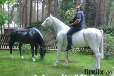 Zwei Deko Pferde als Blickfang für Ihren Garten...