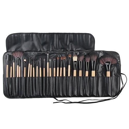 24tlg Kosmetik Pinselset Make Up Bürste Pinsel Set Mit Etui 864518
