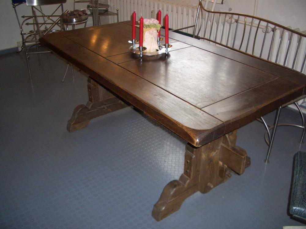 antiker tisch massiv eiche wundersch n 853010. Black Bedroom Furniture Sets. Home Design Ideas