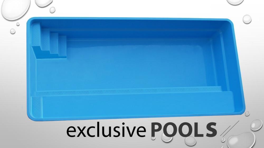 Ap gfk schwimmbecken einbaubecken polyester pool for Schwimmbecken polyester