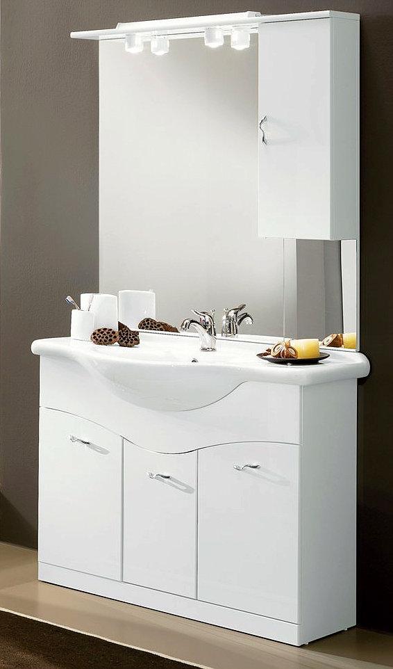 badezimmerkomplettset mit schrank waschtisch und. Black Bedroom Furniture Sets. Home Design Ideas