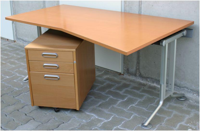 bene designer schreibtisch mit unterschrank und kabelkanal 458283. Black Bedroom Furniture Sets. Home Design Ideas