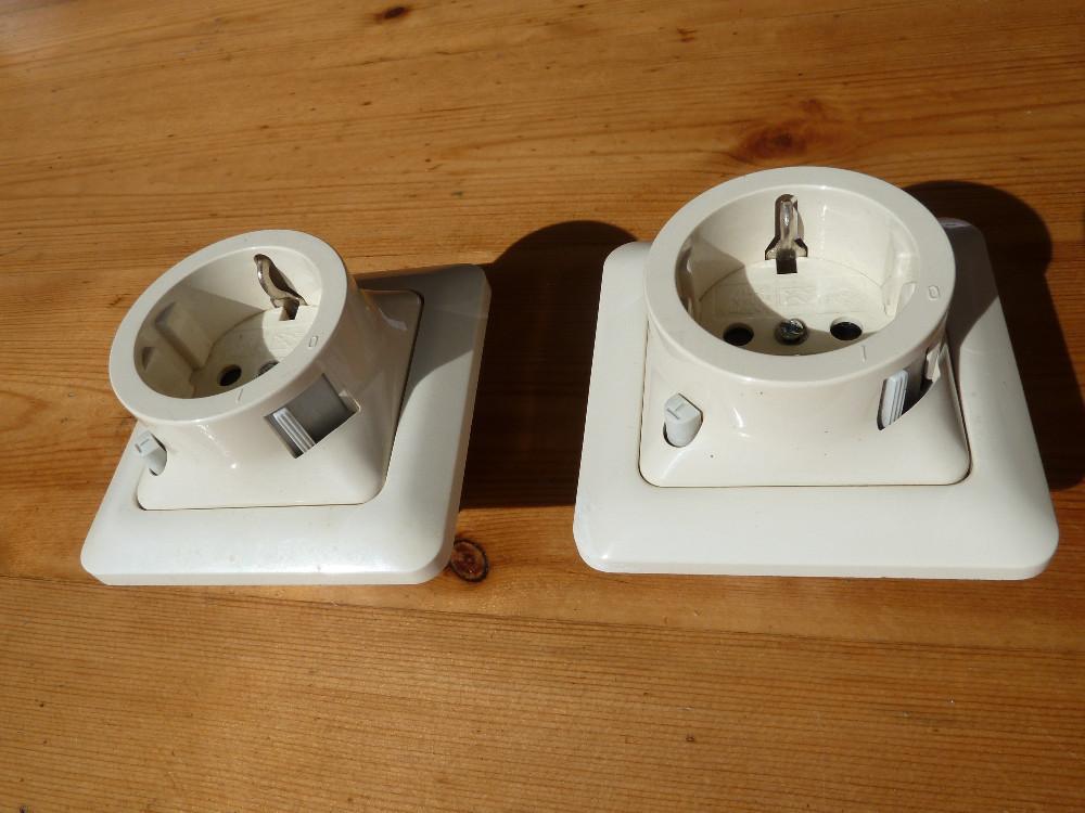 berker schuko unterputz steckdosen mit fi schutzschalter. Black Bedroom Furniture Sets. Home Design Ideas