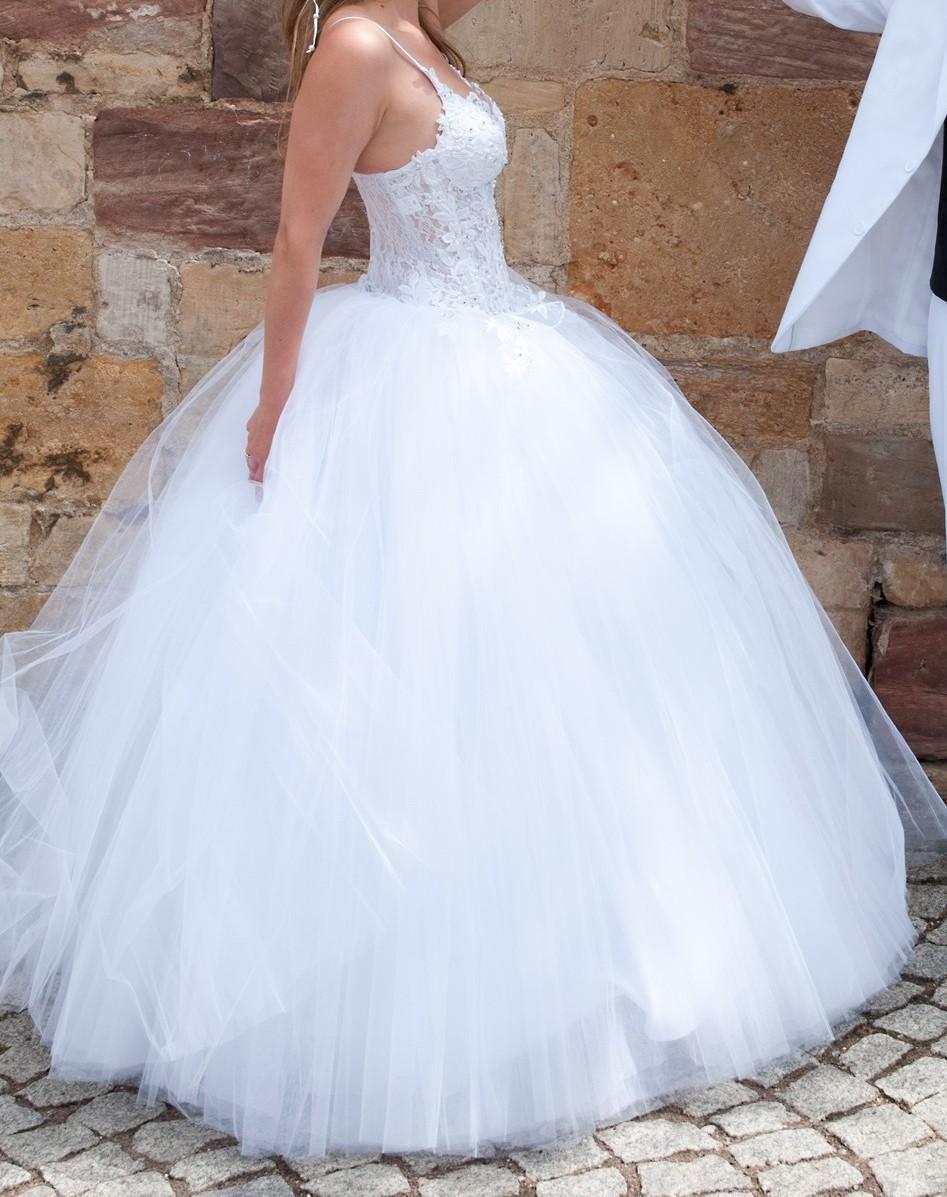 Brautkleid Hochzeitskleid Corsagenkleid WIE NEU 16-16 - 16