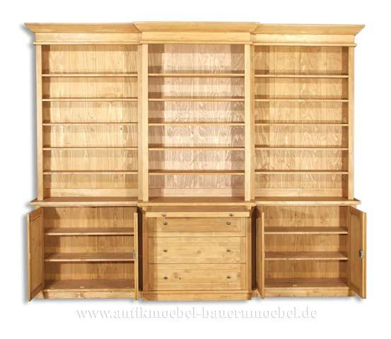 bue 36 rw b cherschrank b cherwand massivholz 881249. Black Bedroom Furniture Sets. Home Design Ideas