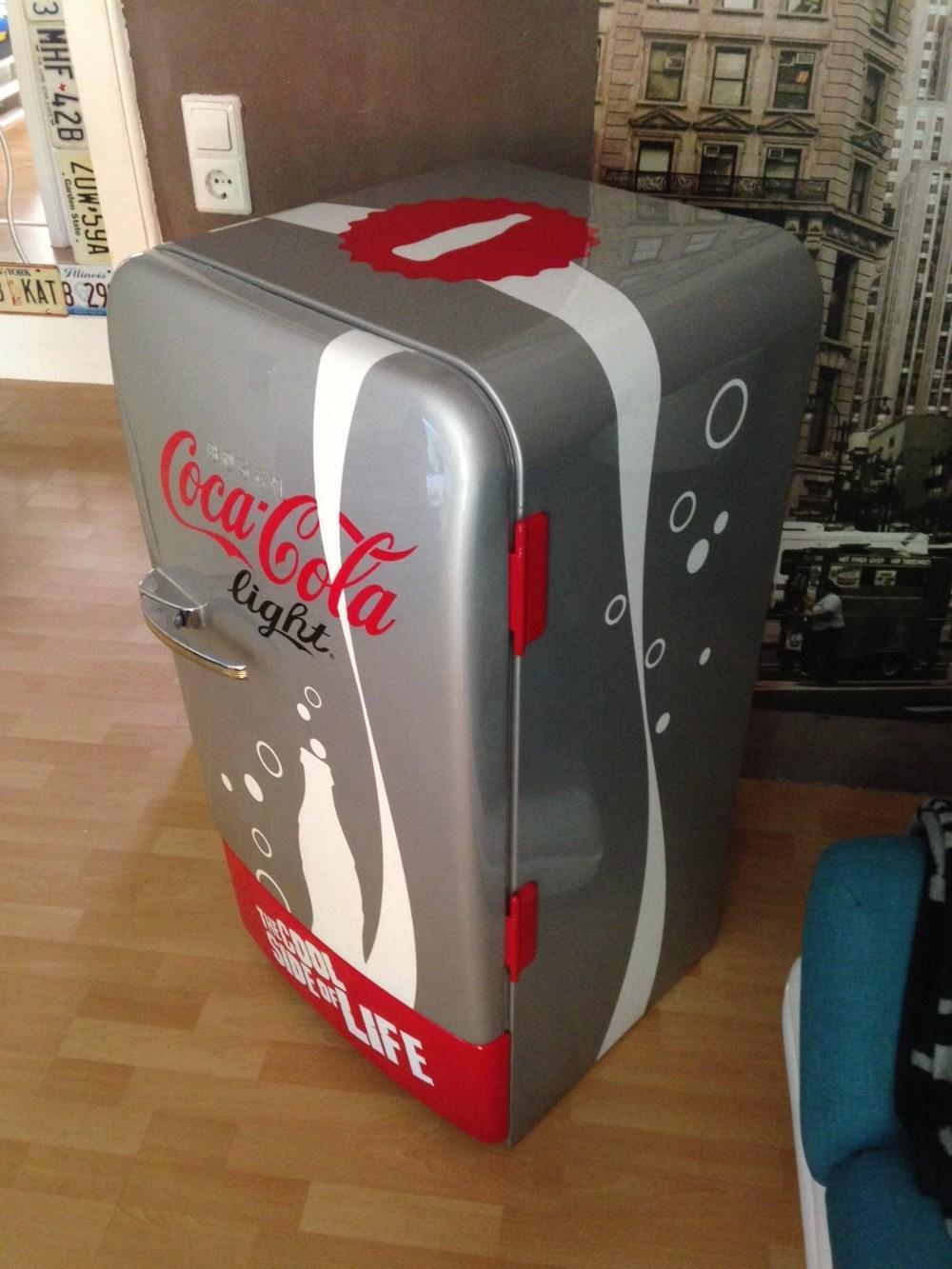 coca cola light edition k hlschrank original 50er jahre retro 860863. Black Bedroom Furniture Sets. Home Design Ideas