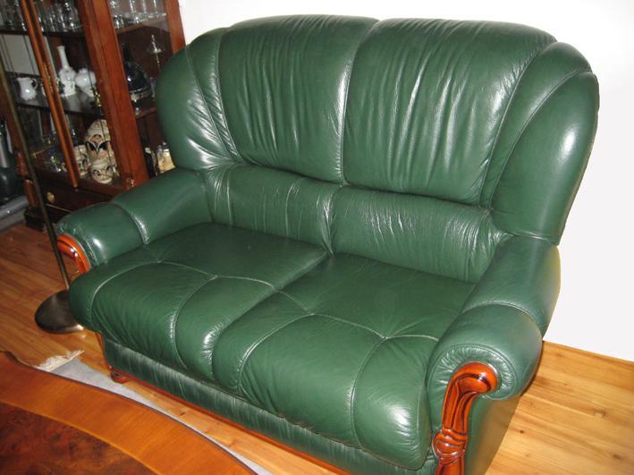 couch couchgarnitur leder 3 2 sitzer sessel. Black Bedroom Furniture Sets. Home Design Ideas