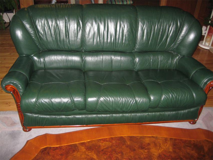 couch couchgarnitur leder 3 2 sitzer sessel couchtisch. Black Bedroom Furniture Sets. Home Design Ideas