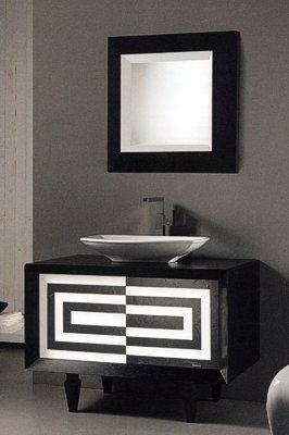 designer badezimmerm bel schwarz und wei 828566