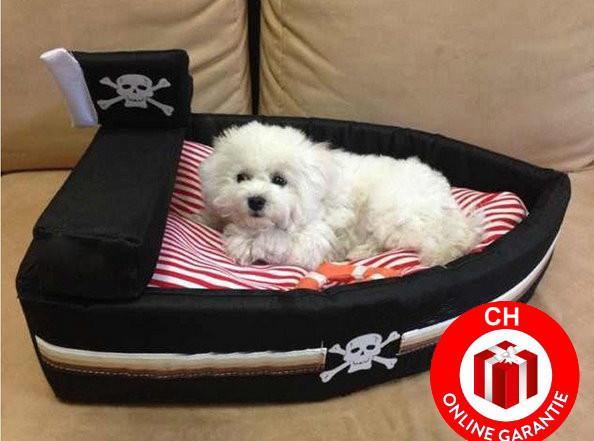 designer kuschel piratenschiff hund katze schlafplatz bett hundeb 888067. Black Bedroom Furniture Sets. Home Design Ideas