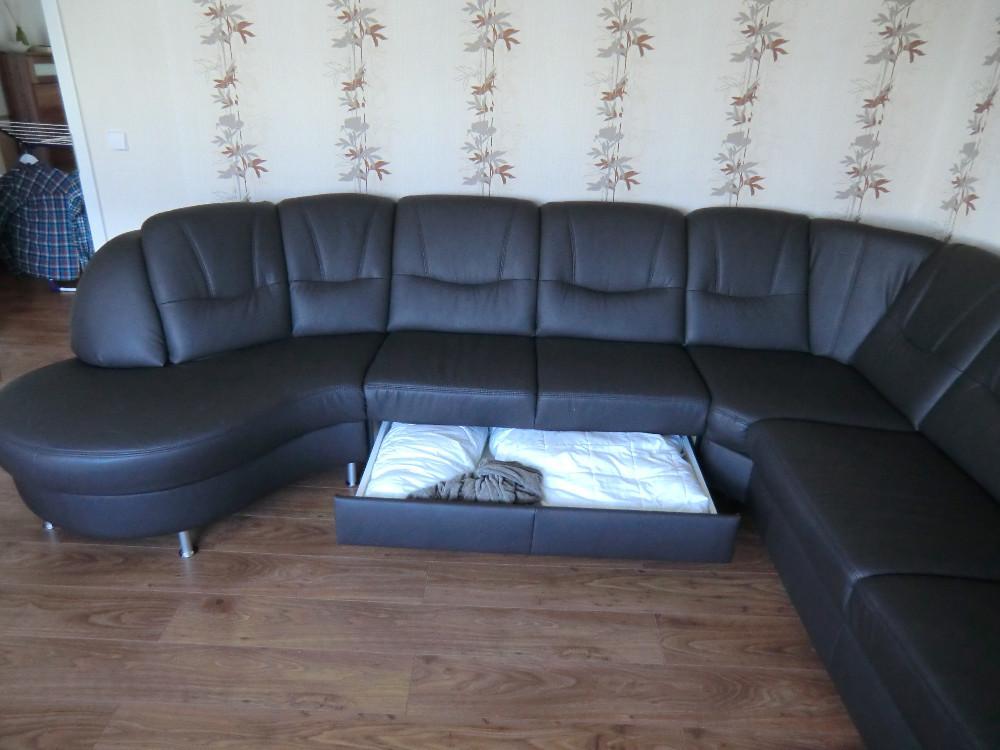 eckcouch echt leder 9monate jung wenig benutzt 805969. Black Bedroom Furniture Sets. Home Design Ideas