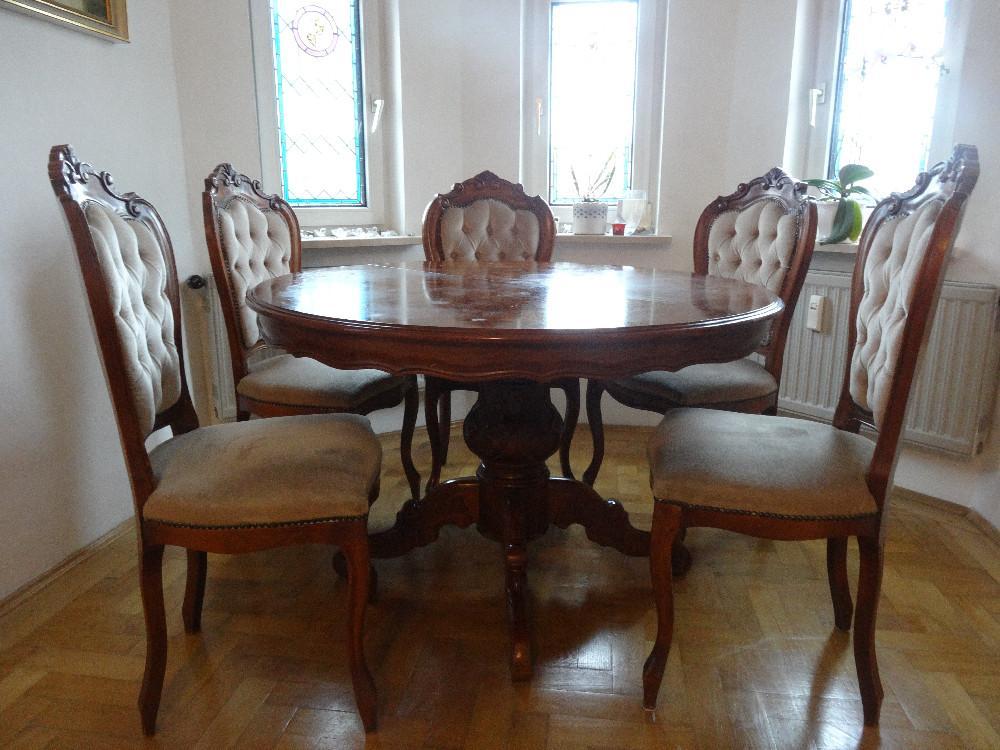 eleganter esstisch 6 st hle 868859. Black Bedroom Furniture Sets. Home Design Ideas