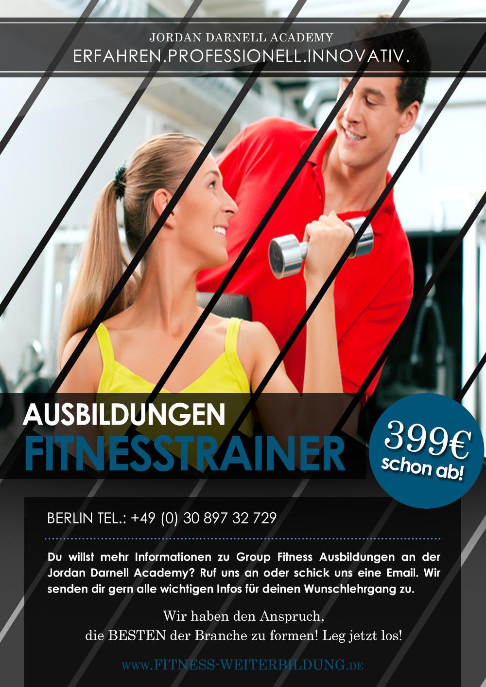 fitnesstrainer b lizenz an der jordan darnell academy 845849. Black Bedroom Furniture Sets. Home Design Ideas
