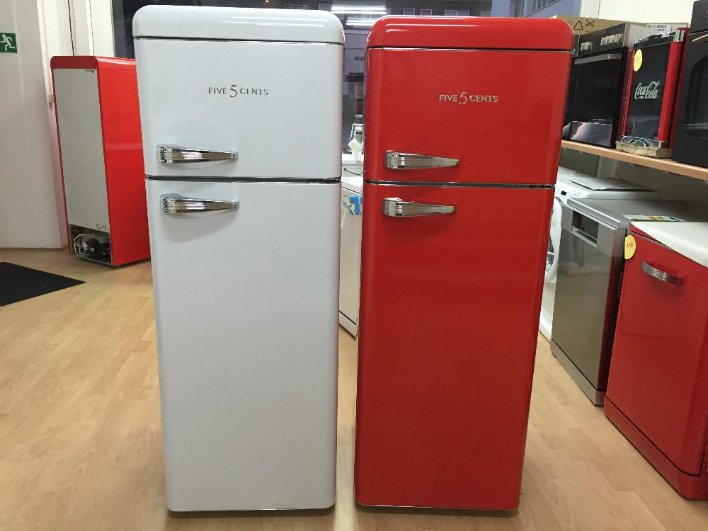 Kühlschrank Retro Schwarz : Retro kühl gefrierkombination in verschiedenen