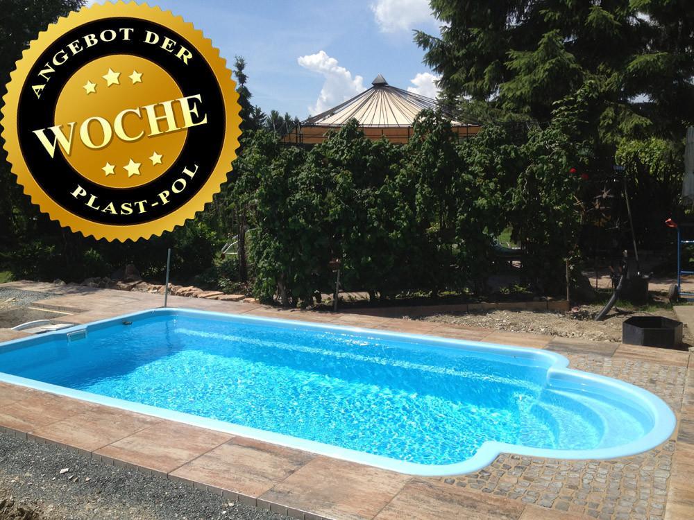 Charming Gfk Schwimmbecken 10,00x3,20x1,50 Pool, Einbaubecken,Komplettset   853005