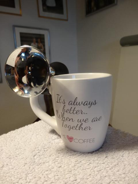 grosse kaffee tasse mit hupe 879747. Black Bedroom Furniture Sets. Home Design Ideas