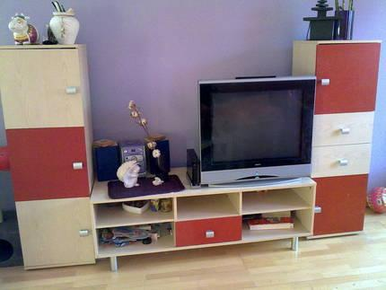 g nstige moderne wohnwand wohnzimmerschrank. Black Bedroom Furniture Sets. Home Design Ideas