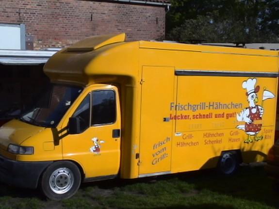 h hnchen mobil imbiss verkaufsfahrzeug mit neuen t v au 881673. Black Bedroom Furniture Sets. Home Design Ideas