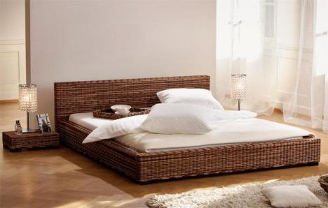 hasena bett lotus rattan fabrikneu 1 2 preis nur noch 625 282235. Black Bedroom Furniture Sets. Home Design Ideas