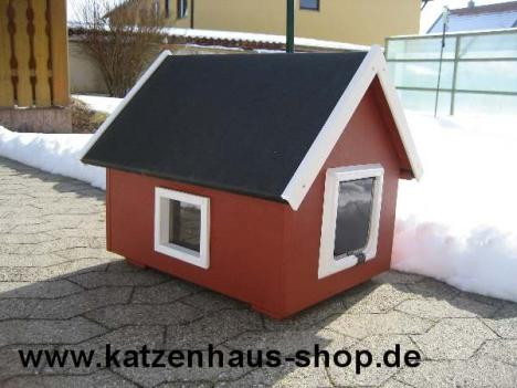 katzenhaus wetterfest mit isolierung f r draussen. Black Bedroom Furniture Sets. Home Design Ideas