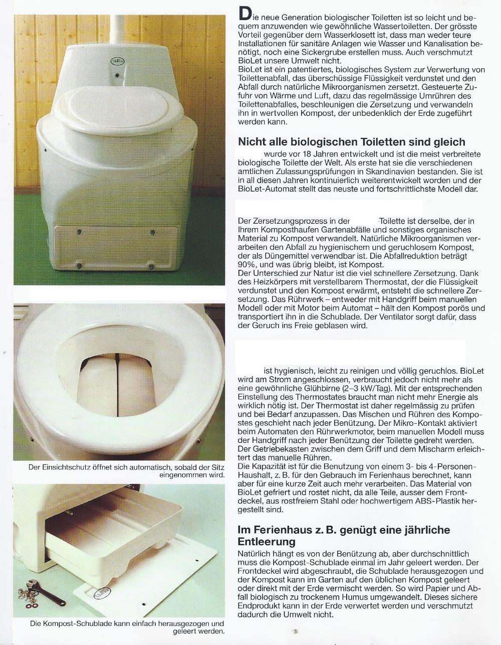 komposttoilette mit r hrwerk solange vorrat 893298. Black Bedroom Furniture Sets. Home Design Ideas