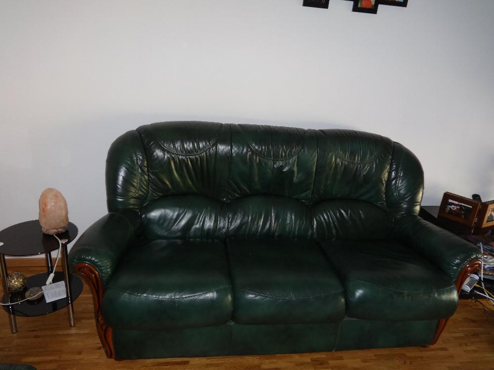 leder couch und sessel 864573. Black Bedroom Furniture Sets. Home Design Ideas
