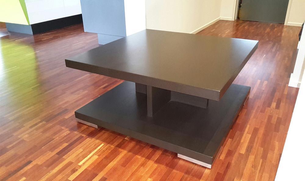 moderner couchtisch 75x75 cm eiche massiv zu verschenken 870798. Black Bedroom Furniture Sets. Home Design Ideas