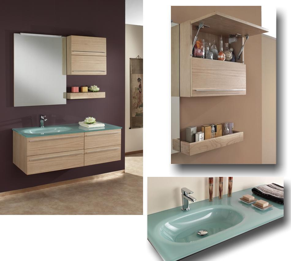 modernes badm bel in eiche hell 830395. Black Bedroom Furniture Sets. Home Design Ideas