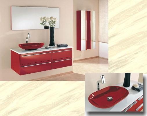 Badmöbel rot  Modernes Badmöbel Sari in Rot oder Schwarz - 855168
