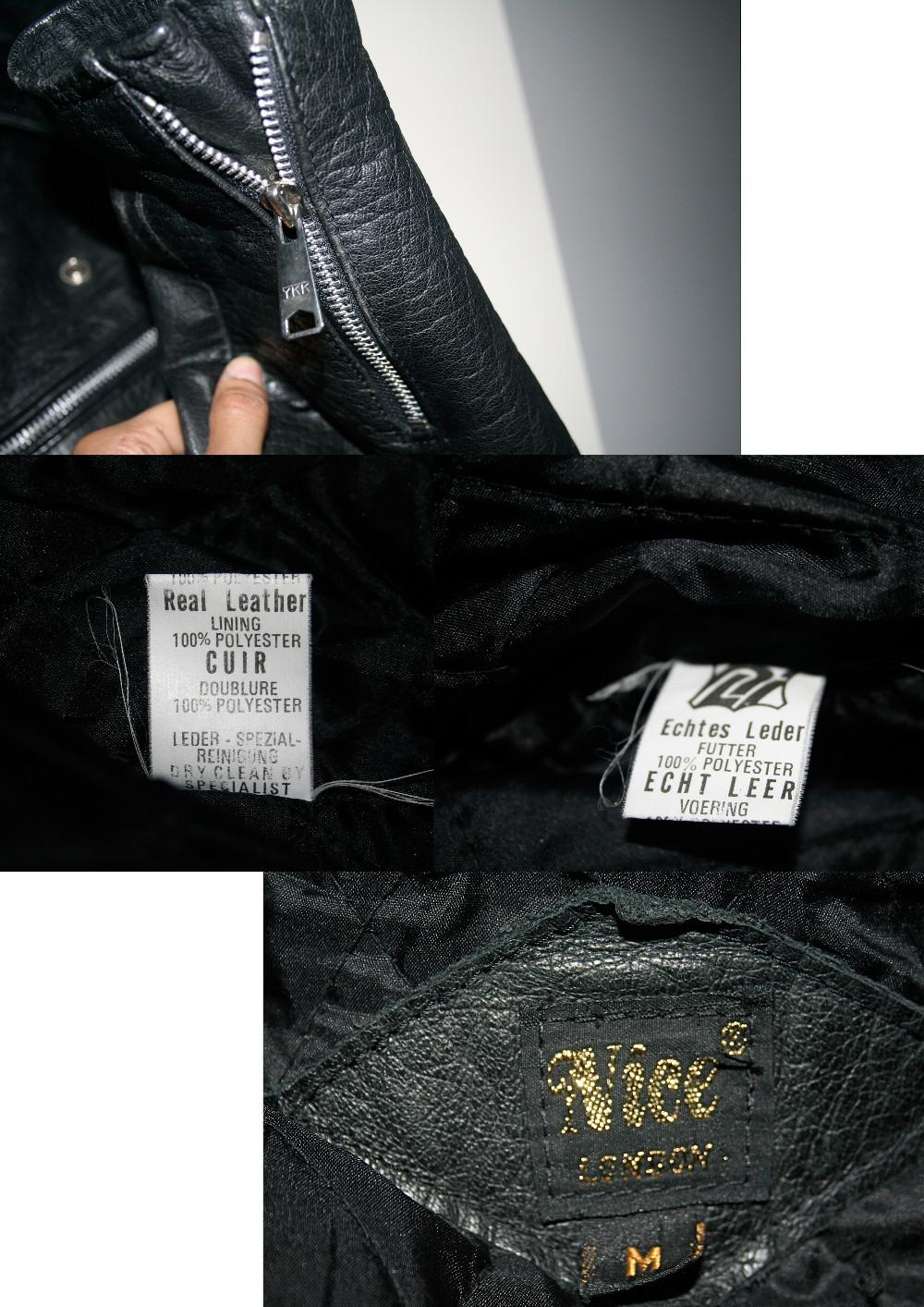NICE of London, Biker Lederjacke, Retro 40's50's, 927686