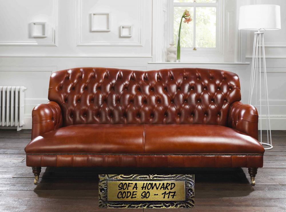 Original Englische Chesterfield Sofa S 818233