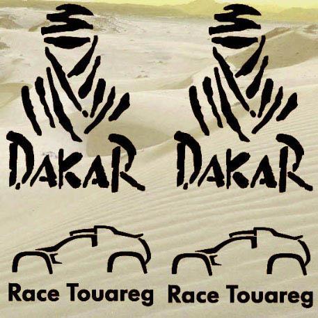 Rally Dakar Race Touareg Aufkleber