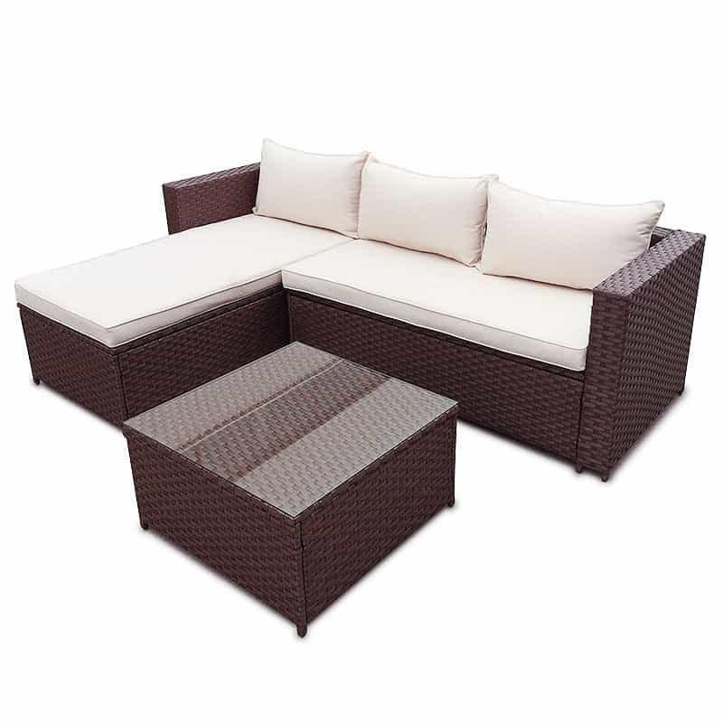 rattan gartenm bel gartenset sitzgruppe garnitur lounge sofa neu 890979. Black Bedroom Furniture Sets. Home Design Ideas