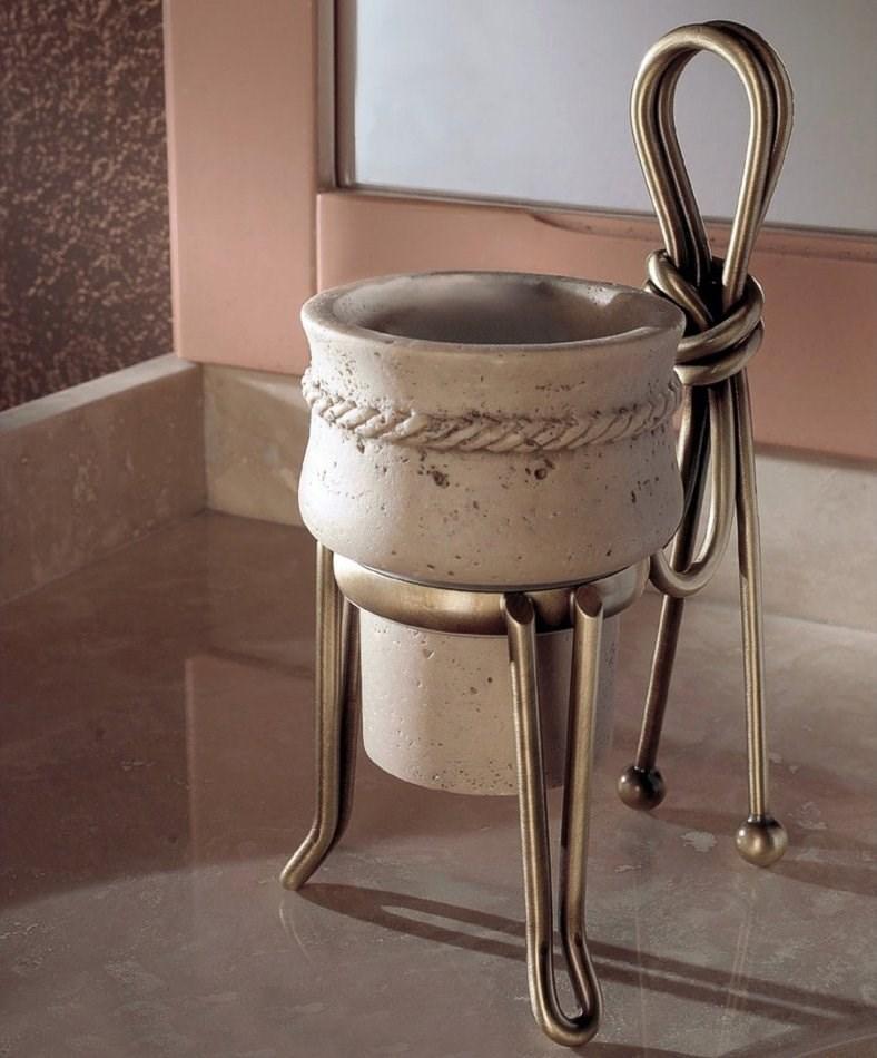 rustikaler waschtisch aus travertin stein 865112. Black Bedroom Furniture Sets. Home Design Ideas