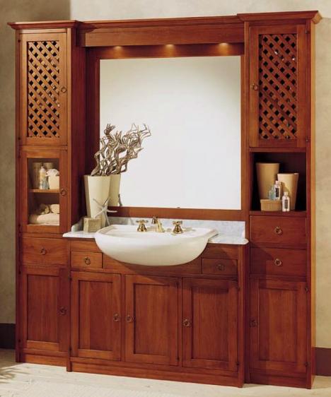Rustikales kirschholz badm bel 207237 - Italienische badezimmermobel ...