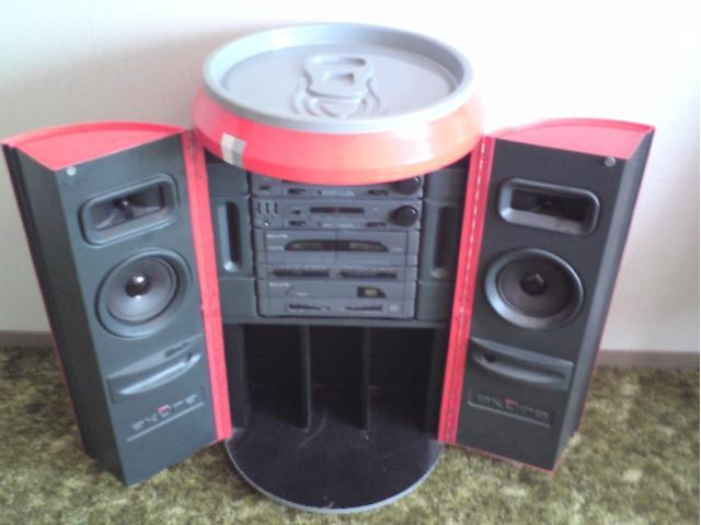 sammlerst ck coca cola stereoanlage 807689. Black Bedroom Furniture Sets. Home Design Ideas