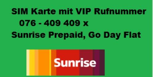 Sim Karte Prepaid.Sunrise Prepaid Sim Karte Mit Vip Rufnummer Business Rufnummer