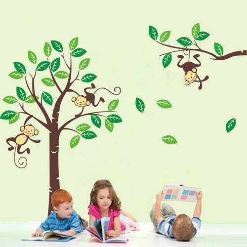 wandtattoo kinderzimmer schweiz kaufen affen wald 877490. Black Bedroom Furniture Sets. Home Design Ideas