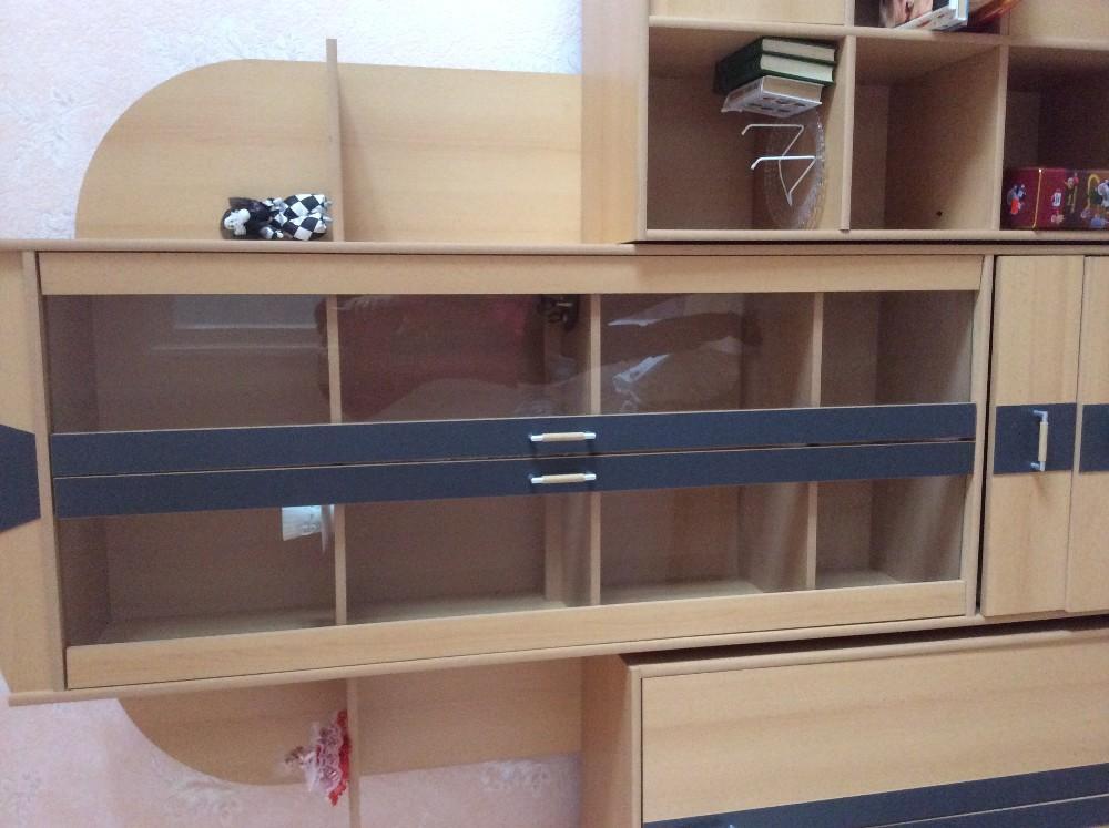 wohnwand aus 3 glasvitrine 871544. Black Bedroom Furniture Sets. Home Design Ideas