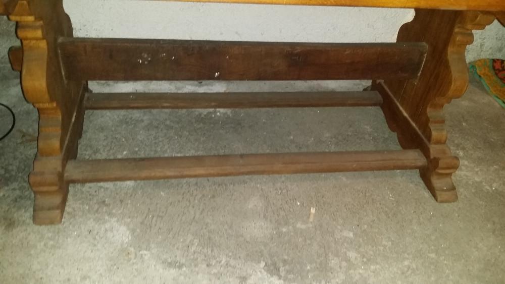Wohnzimmertisch vollholz dunkelbraun 864728 for Wohnzimmertisch vollholz